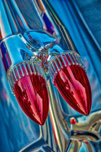 classic, car, automobile, Cadillac, bullet, lights, tail light, taillight