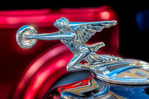 classic, car, automobile, Ford, hood, ornament, Winged, woman, chrome
